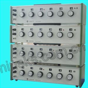 一,zx74直流电阻箱用途:     zx74型直流电阻器用于直流电路中作精密